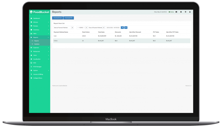 Payment base Reporting