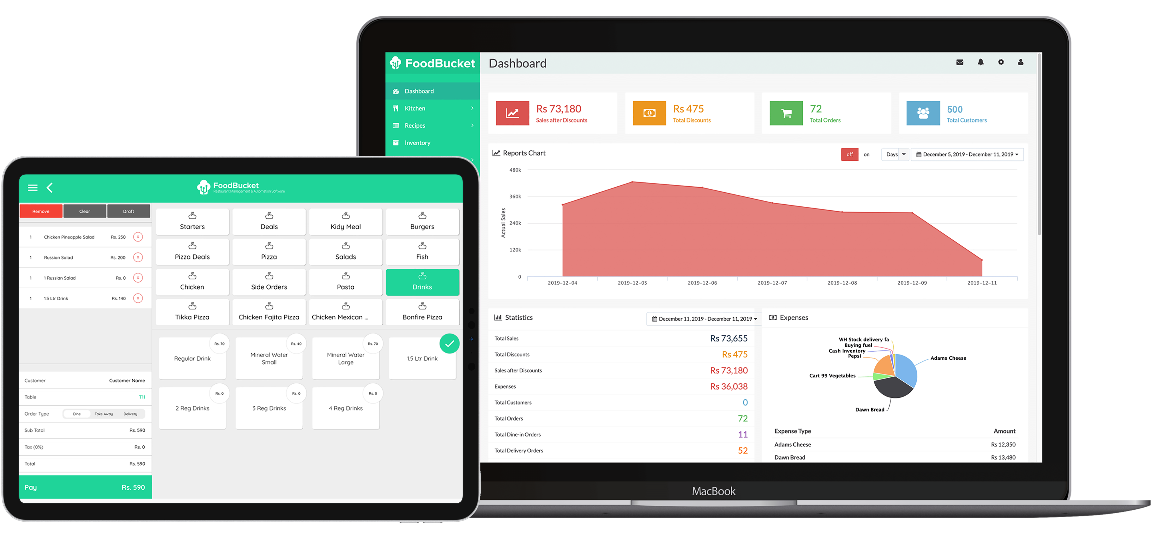 FoodBucket Android POS (point of sale)